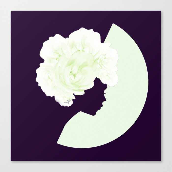 Silhouettes of night Canvas Print
