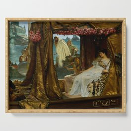 "Sir Lawrence Alma-Tadema ""The Meeting of Antony and Cleopatra"" Serving Tray"