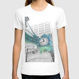 The Blue Chicago Clock T-shirt
