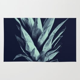 Navy Blue Pineapple Dream #1 #tropical #fruit #decor #art #society6 Rug