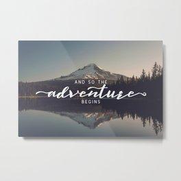 Trillium Adventure Begins - Nature Photography Metal Print