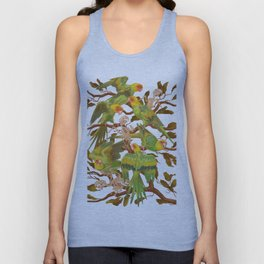 The extinction of the Carolina Parakeet. Unisex Tank Top