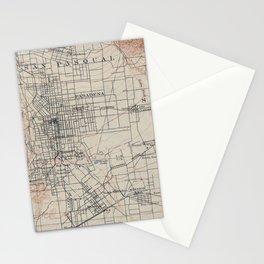 Vintage Map of Pasadena California (1894) Stationery Cards
