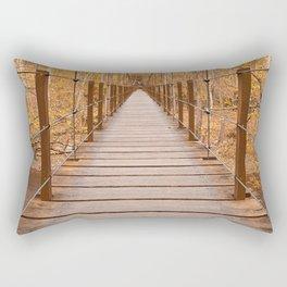 Golden Grove Suspension Bridge Rectangular Pillow