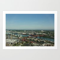 portlandia Art Prints featuring Portlandia by Kailin Ellett