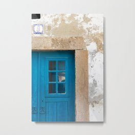 Blue Door detail, Óbidos Metal Print