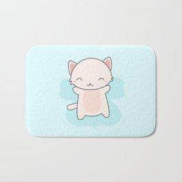 Kawaii Cute Snow Angel Cat Bath Mat