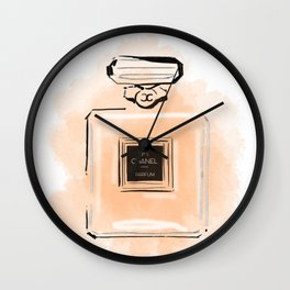 Orange Perfume Wall Clock