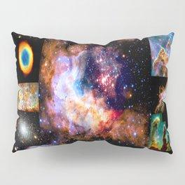 Space Galaxy Nebula Collage Pillow Sham