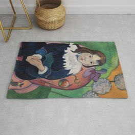 Mr Loulou (Louis Le Ray) (1890) by Paul Gauguin Rug