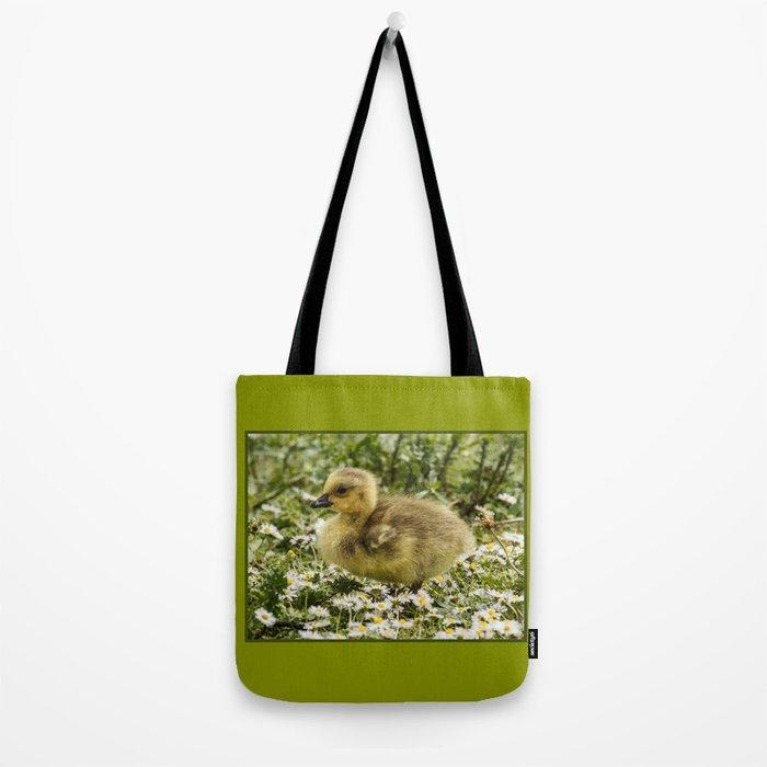 Fluffy Gosling Tote Bag