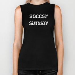 Soccer Sunday Soccer Dad Biker Tank