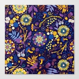 Ripe autumn – purple and yellow Canvas Print