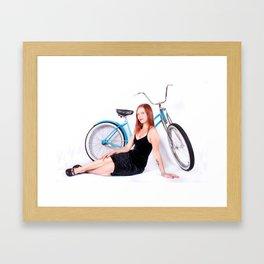 Bicycle Pinup Framed Art Print