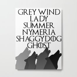 Direwolves Metal Print
