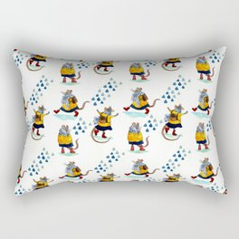 Rainy school day Rectangular Pillow