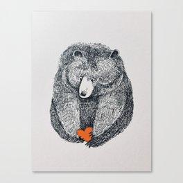 Be my bear Canvas Print