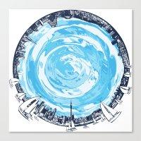 cities Canvas Prints featuring Paronamic NZ by MARIA BOZINA - PRINT