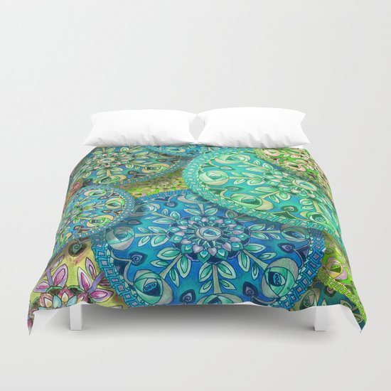 And The Wheels Duvet Cover