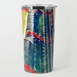 Colorful Burj Khalifa painting Travel Mug