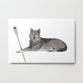 Crew Wolf Metal Print