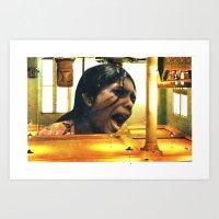 scream Art Prints featuring  SCREAM by tareco