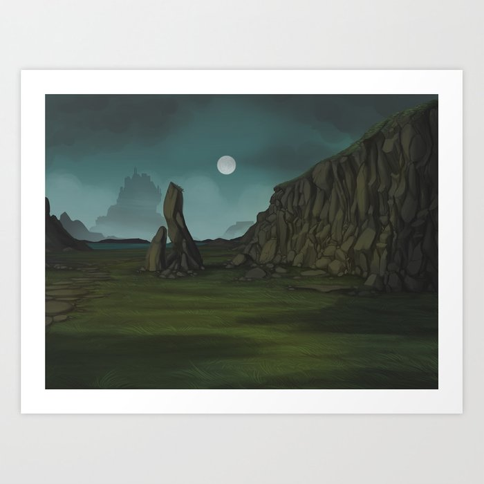 Demons in the Hills Art Print