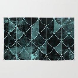 Mermaid scales. Mint and black. Rug