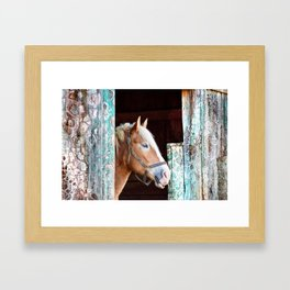 """Beauty in the Barn"" Framed Art Print"