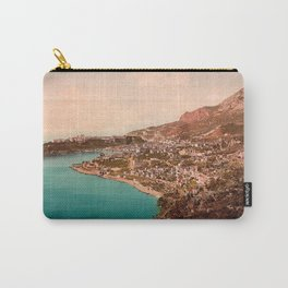 Vintage Principality of Monaco Carry-All Pouch