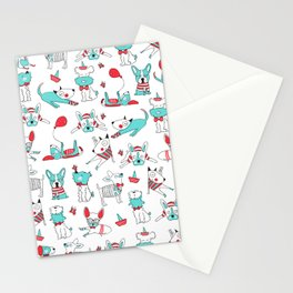 One dog and his friends Stationery Cards
