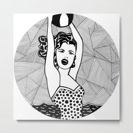 Roy Lichtenstein - Girl with ball Metal Print
