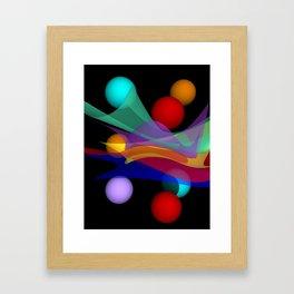 waves on black -01- Framed Art Print