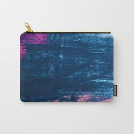 Early Bird [2]: A vibrant minimal abstract piece in blues and pink by Alyssa Hamilton Art Carry-All Pouch