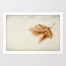 a simple leaf Art Print