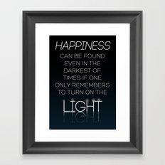 Harry Potter Albus Dumbledore Quote Framed Art Print