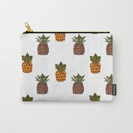 pressed flower pineapple print Carry-All Pouch