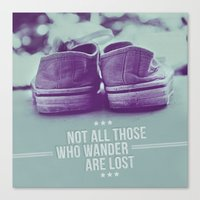 not all who wander are lost Canvas Prints featuring Not all those who wander are lost by Gal Ashkenazi