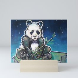 Lonely Panda Bear Mini Art Print
