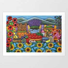 Flavours of Provence Art Print