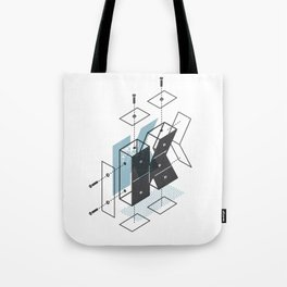 The Exploded Alphabet / K Tote Bag