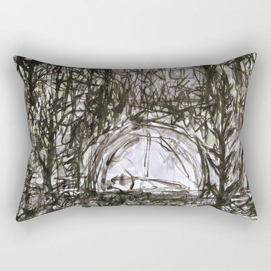 Spending the Night in the Woods Rectangular Pillow