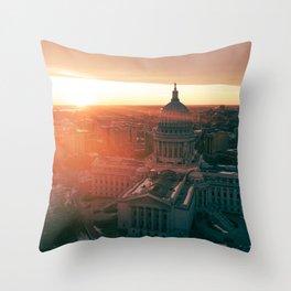 Red Sunset Wisconsin - Dec 2020 Throw Pillow