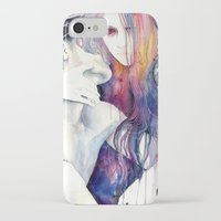 agnes iPhone & iPod Cases featuring wakeful by agnes-cecile