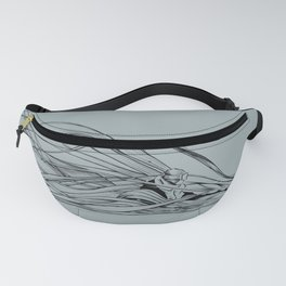 'Snowboarder in Ribbons of Snow II' Fanny Pack