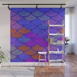 Multicolor Scales Wall Mural