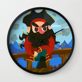 Blackbeard the pirate Wall Clock
