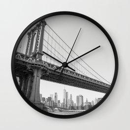 Manhattan Over Manhattan Wall Clock