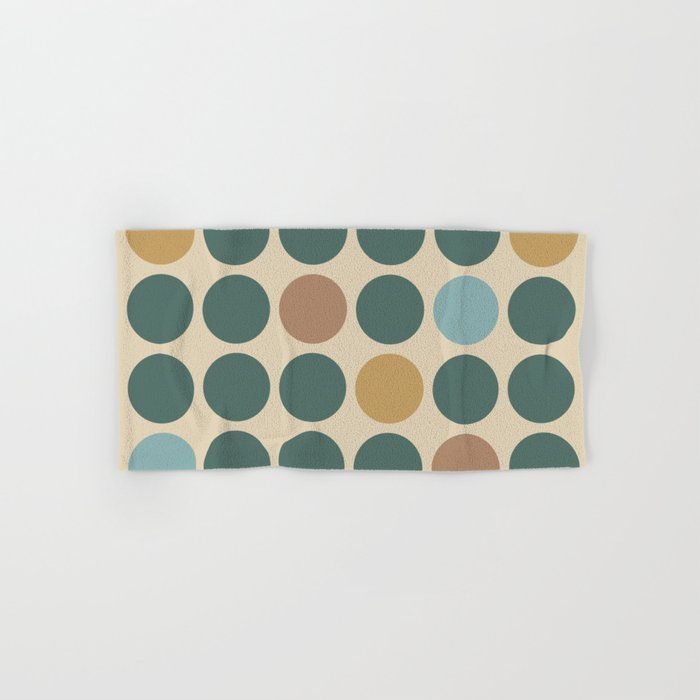 Mid Century Modern Polka Dot Pattern 437 Hand & Bath Towel