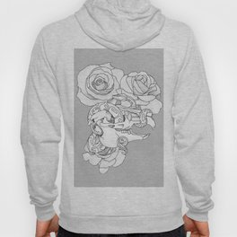 Lagomorph Skull and Snake Hoody